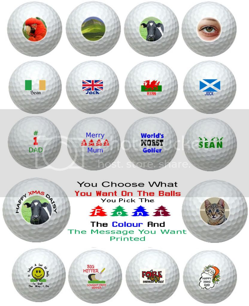 Logo Golf Ball Samples